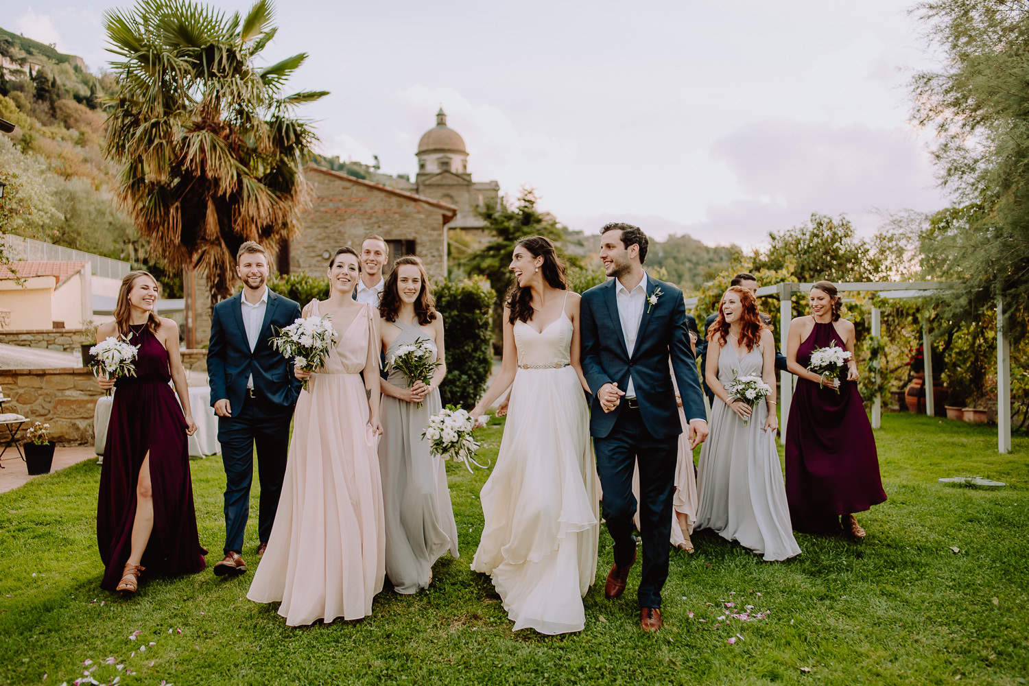 Unbria wedding photographer bridal party