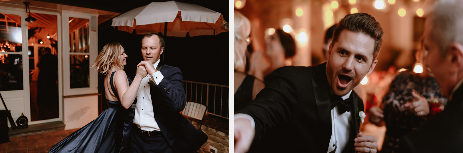 intimate wedding private villa tuscany photographer dance floor dance party