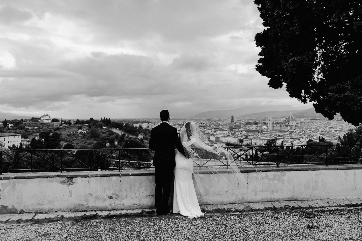elopement photographer florence romantic san miniato al monte portrait session