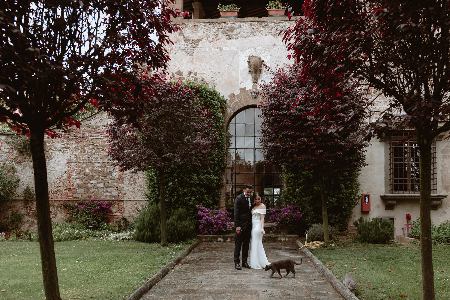 elopement photographer florence torre bellosguardo garden wedding photo session