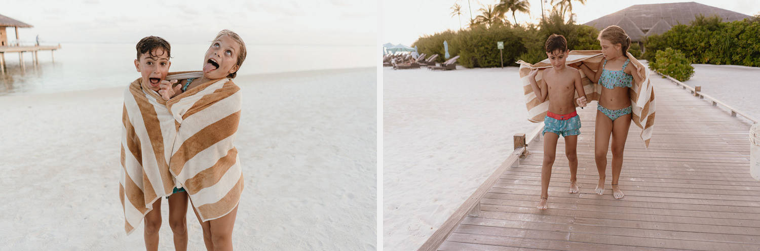 wedding photographer in maldives anniversary trip cocoon sunset beach fun kids