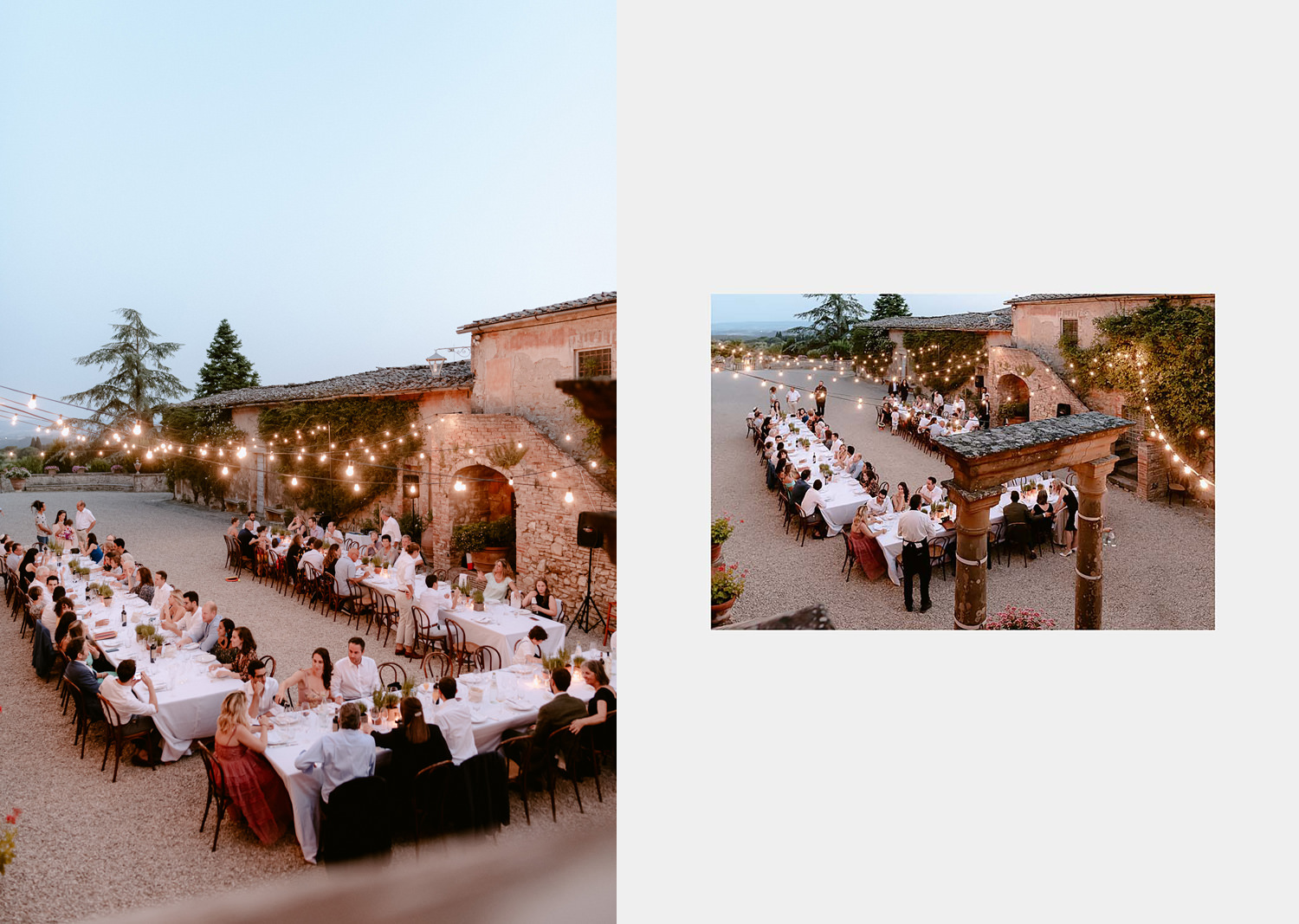 villa catignano wedding photogprapher siena symbolic jewish marriage outdoor al fresco dinner reception