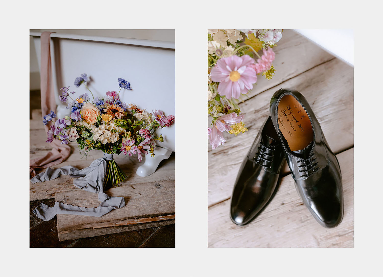Wedding Inspiration Tuscan Rolling Hills puscina flowers bouquet ortigni shoes