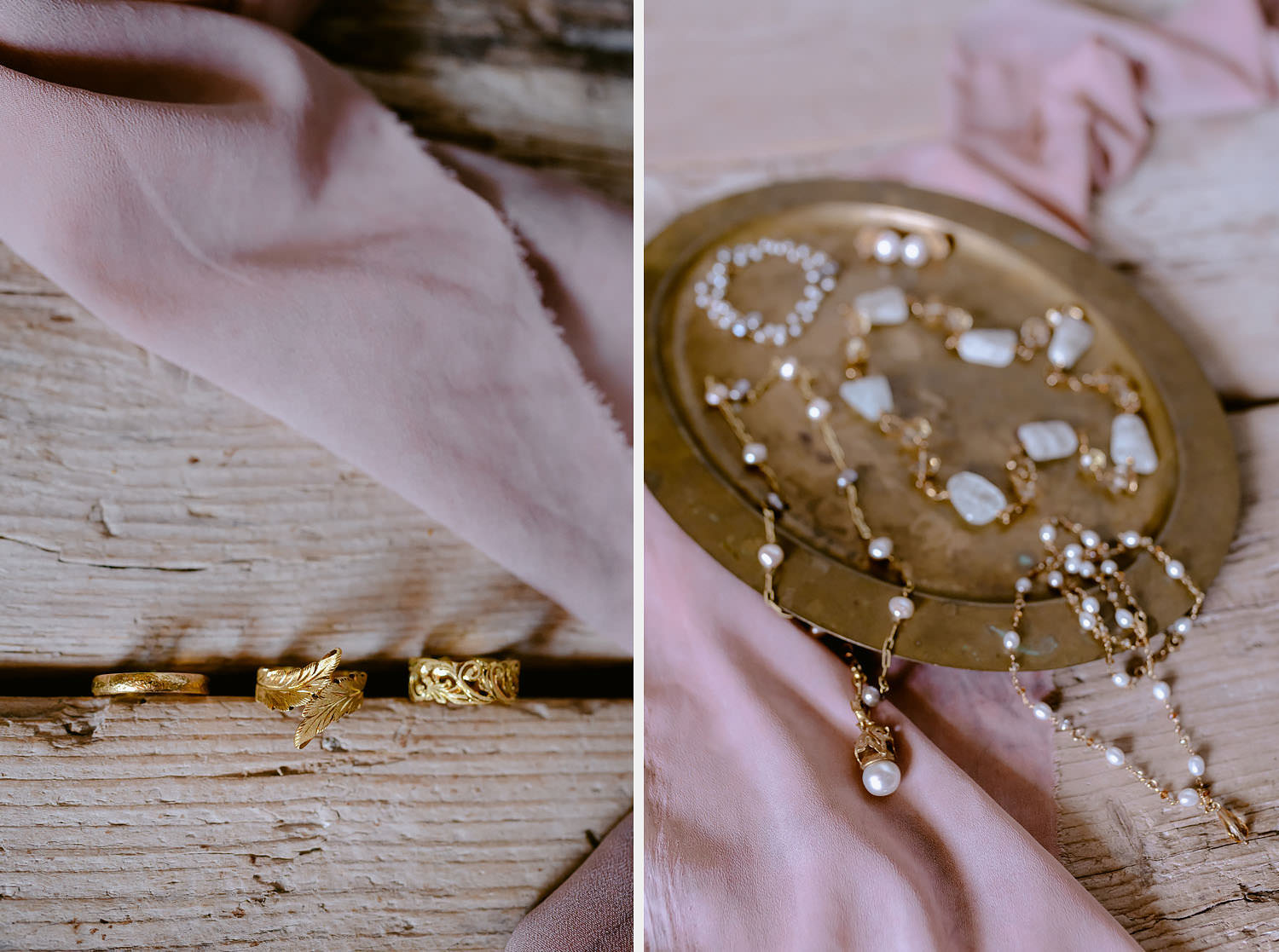 Wedding Inspiration Tuscan Rolling Hills oro due hand made florentine jewels