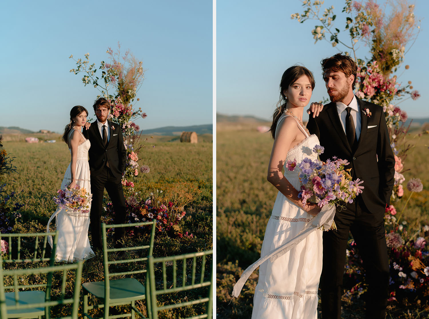 editorial intimate Wedding Inspiration Tuscan Rolling Hills ceremony spot i do