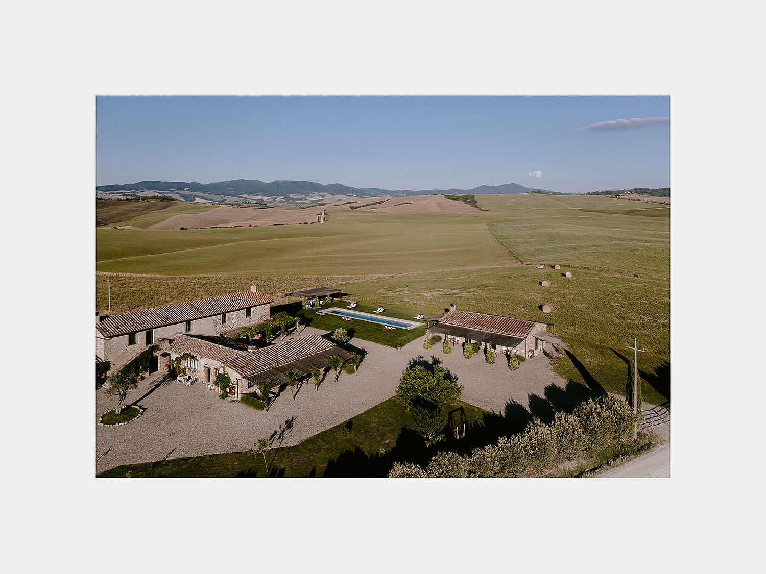 intimate Wedding Inspiration Tuscan Rolling Hills val d orcia locanda in tuscany view