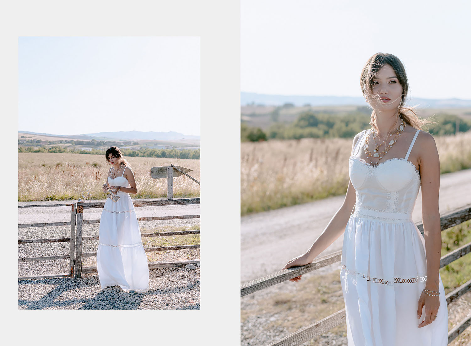editorial intimate Wedding Inspiration in Tuscan Rolling Hills bride and groom portrait iin sunset