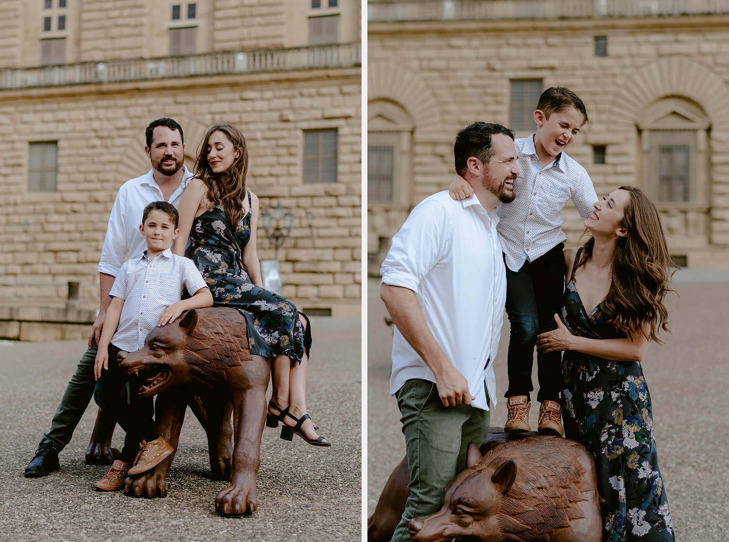 photographer florence travel vacation family piazza pitti