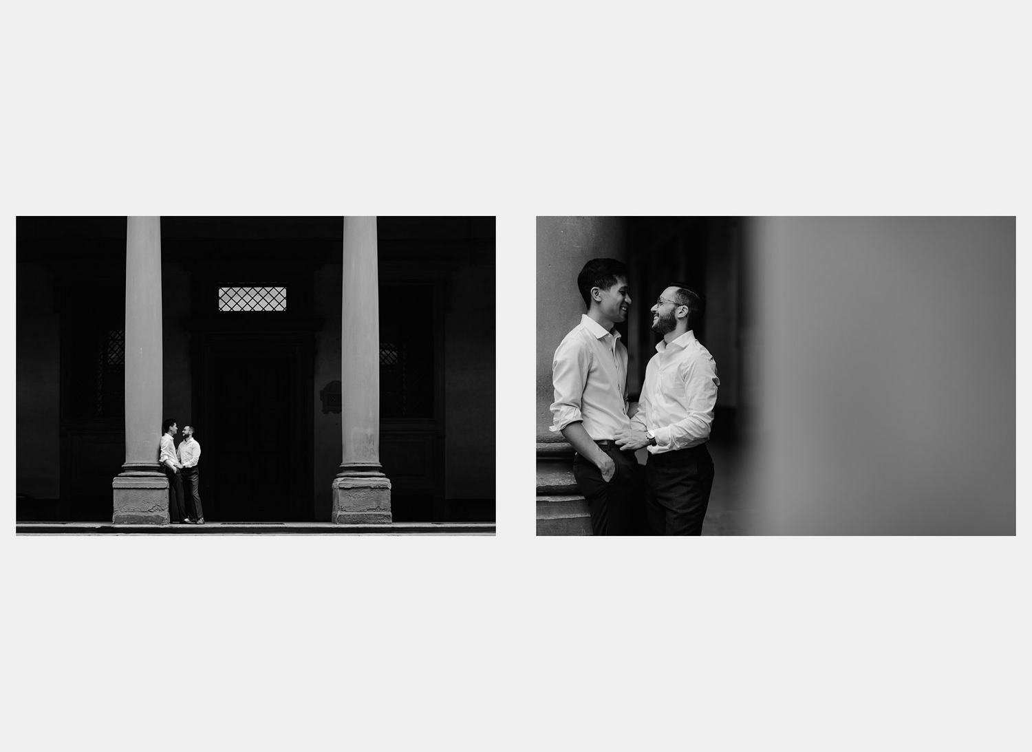 same sex lgb engagement session in florence gay couple