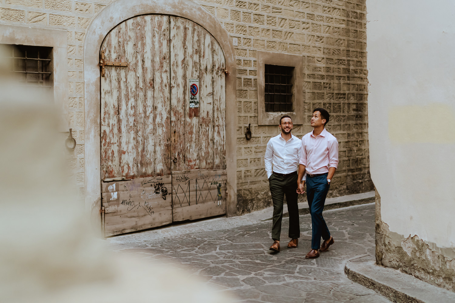 same sex engagement in tuscany gay couple