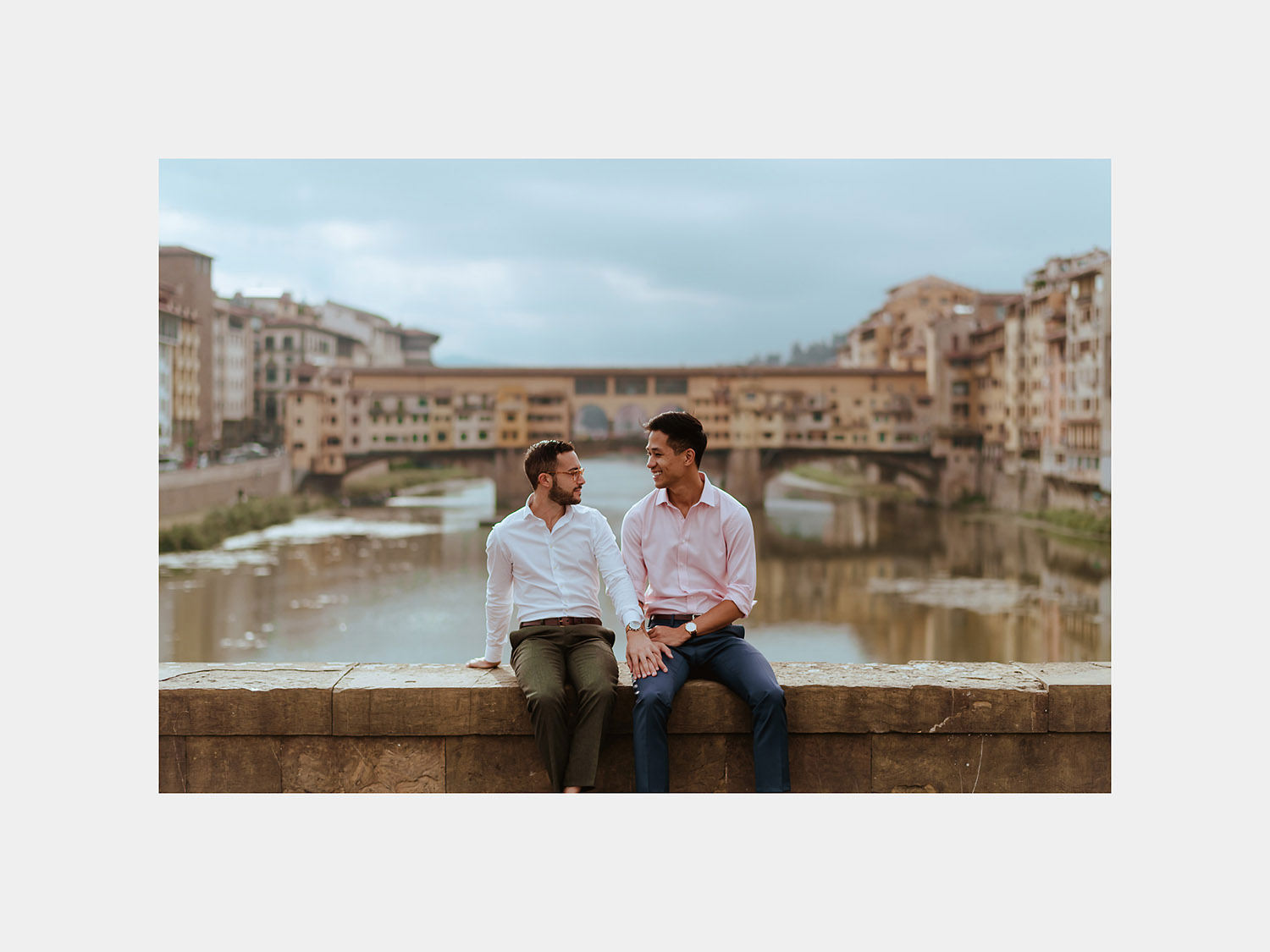 lgbt engagement in florence gay couple