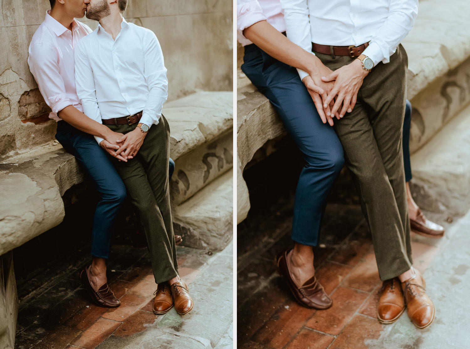 same sex engagement in florence gay couple