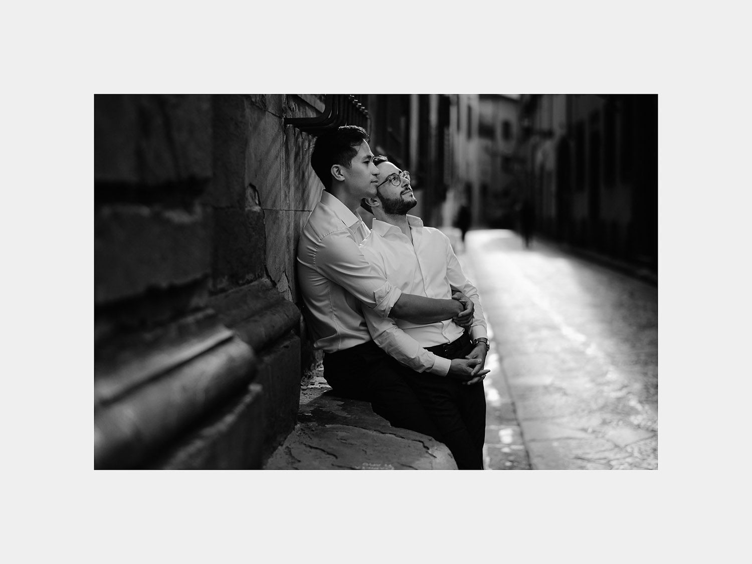 same sex engagement photos in florence gay couple