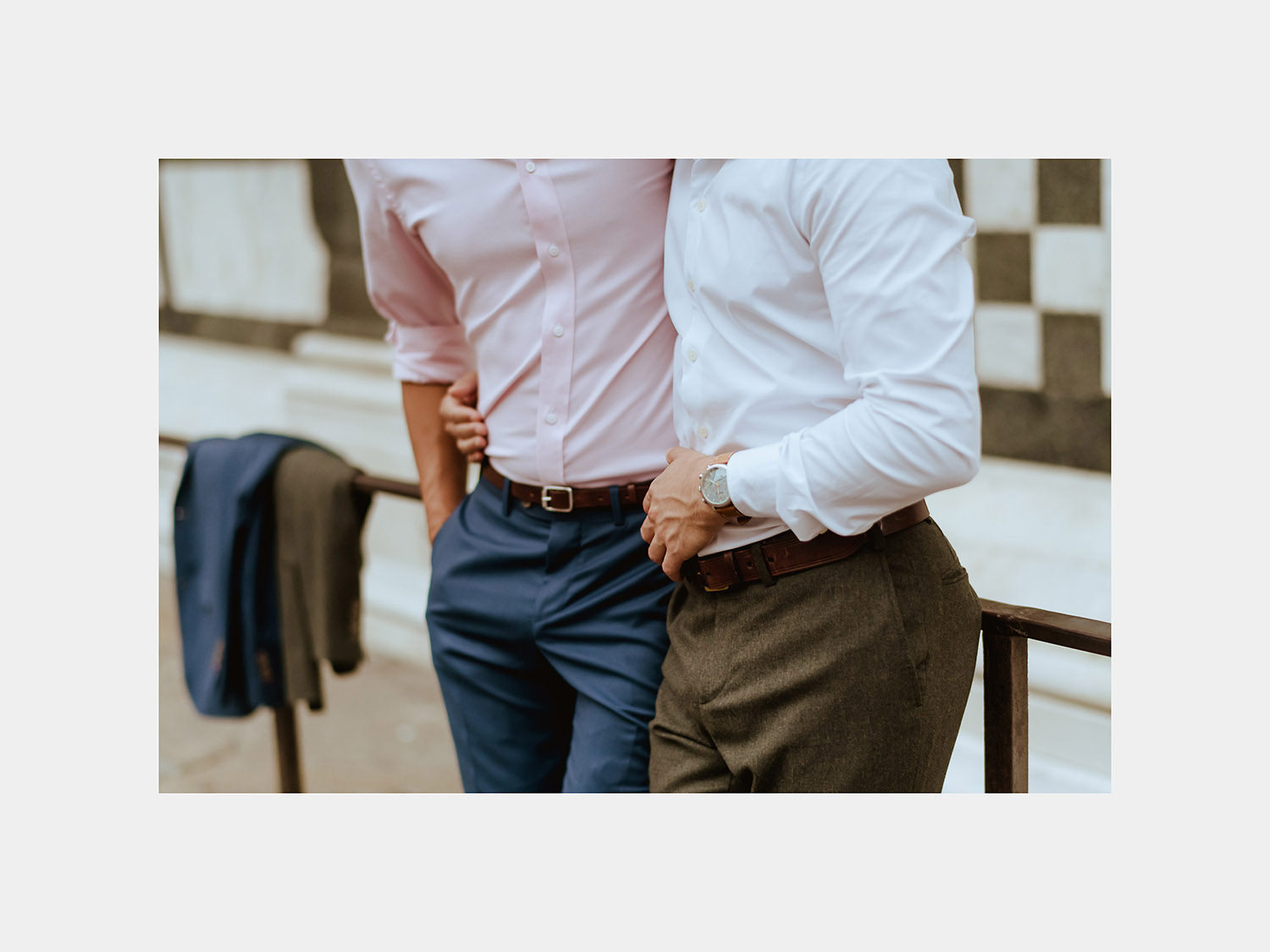 lgbt engagement photos in florence gay couple