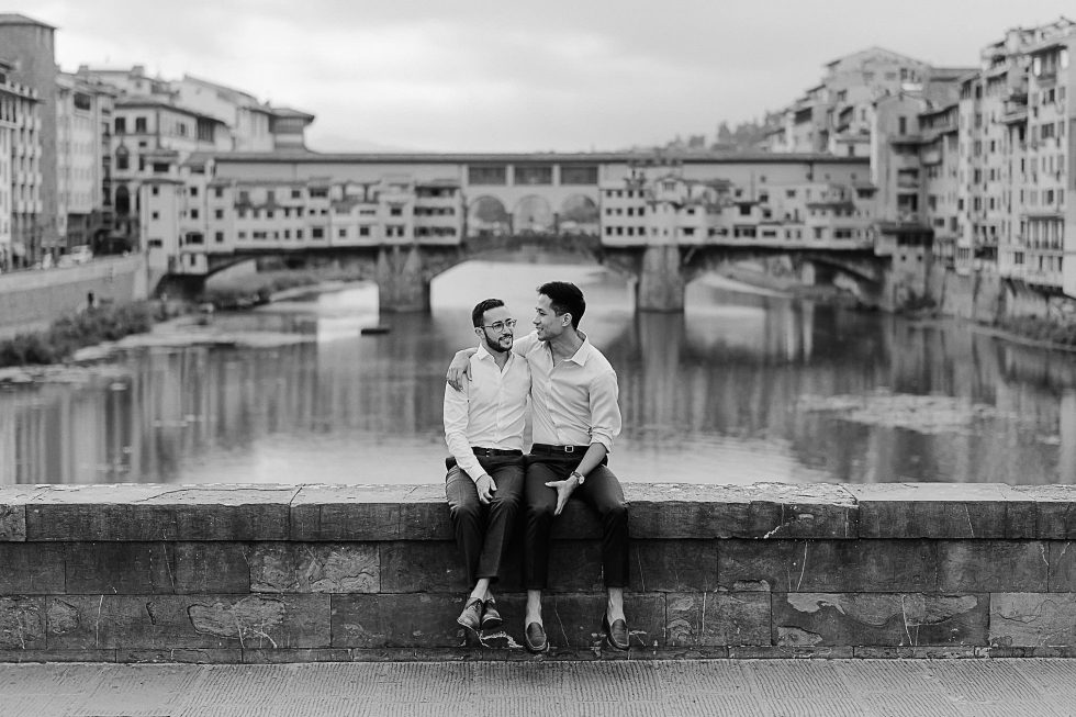 Same-Sex engagement photos in Florence, Italy