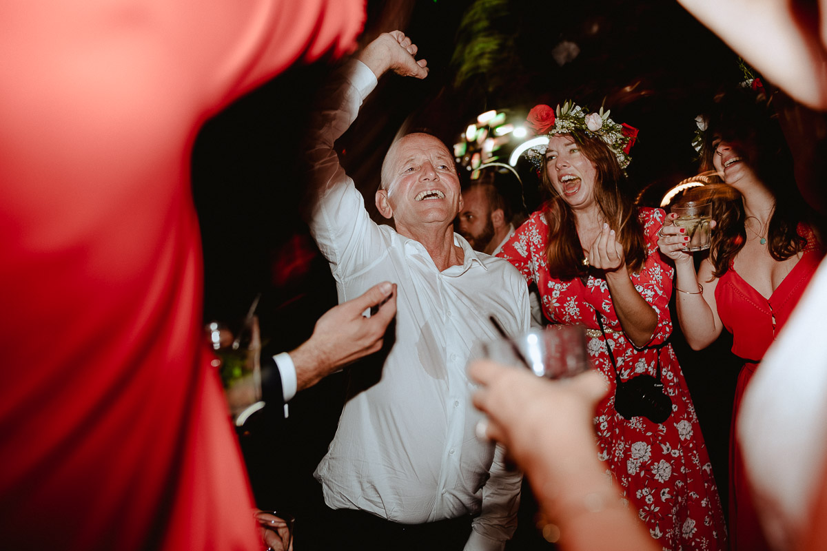 bride father having fun dance party