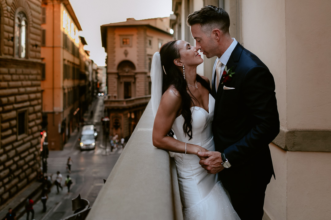 bride groom portrait in a florence medici palace