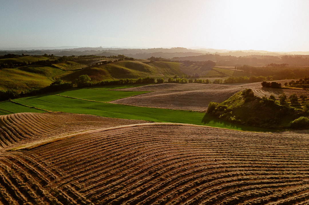 tuscan countryside drone photography