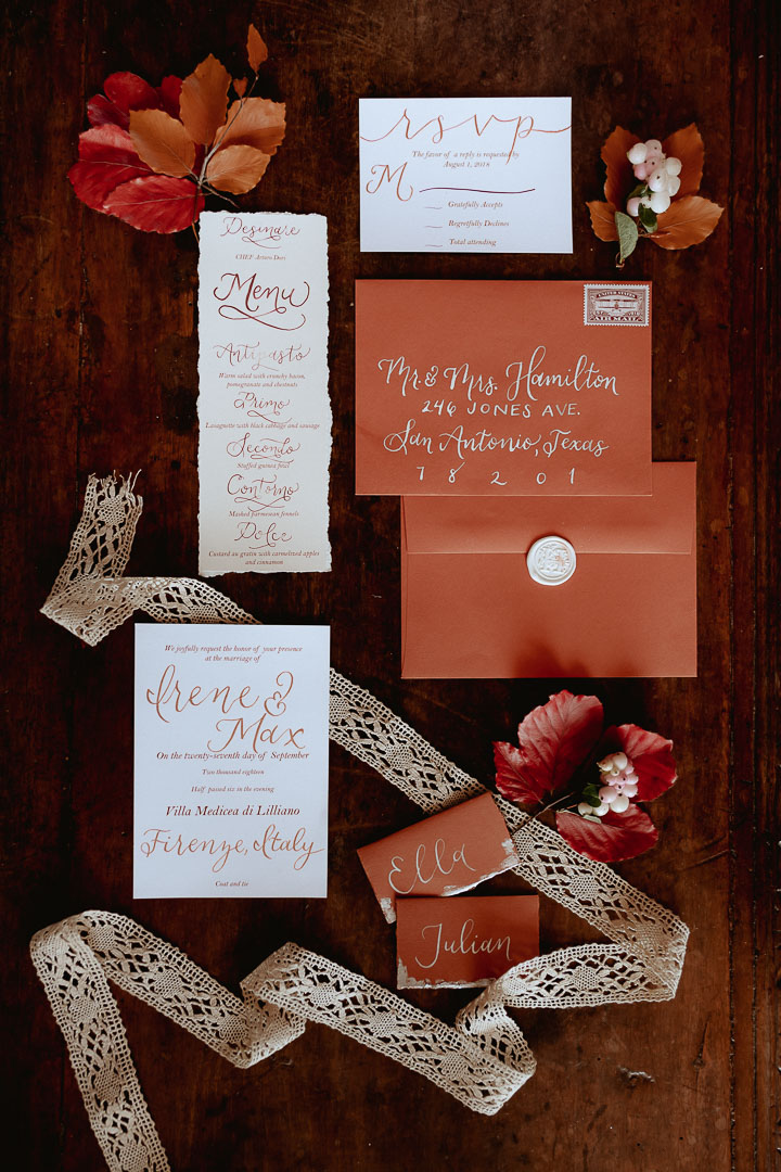 wedding detail decors stationary