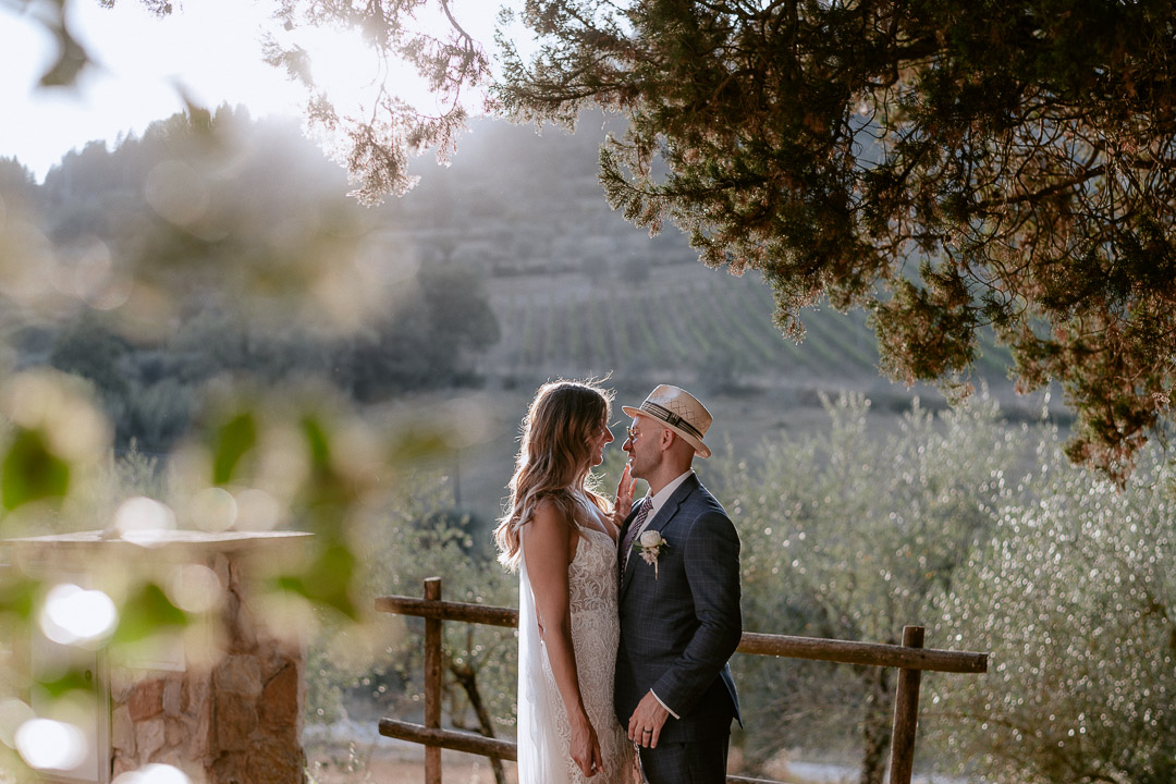 wedding in tuscan countryside photo